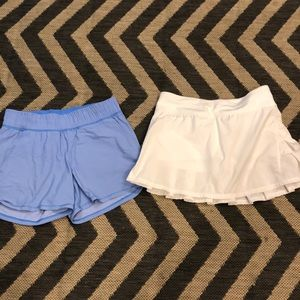 Ivivva shorts and skirt and top 12